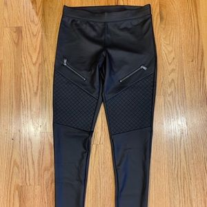 Express faux leather leggings size S